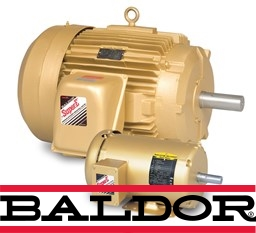 Three phase enclosed general purpose Baldor motor.