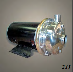 Scot Pump model 231 stainless steel centrifugal pump for sale